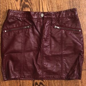 Cute Burgundy Faux Leather